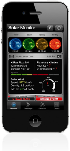 Solar Monitor for iPhone and iPod touch
